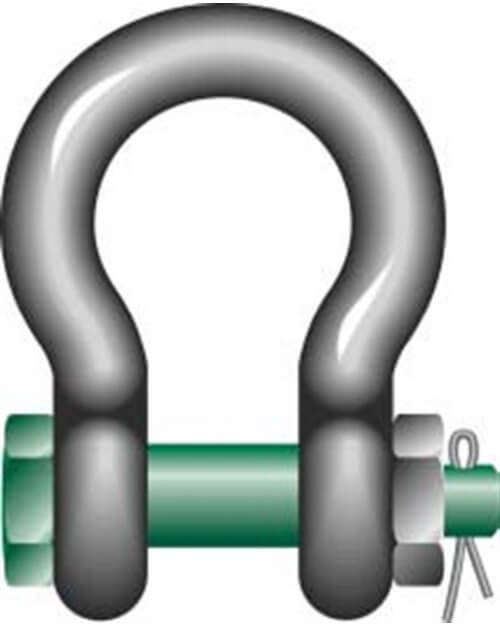 Green Pin Safety Pin Bow Shackle